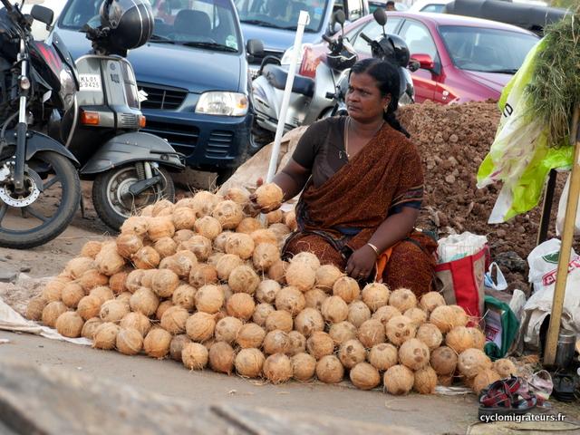 Vendeuse de noix de coco