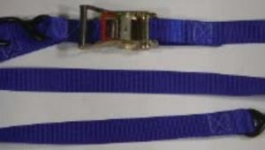 """1.5 inch Ratchet Tiedown with """"S"""" Hooks and Soft Loop"""