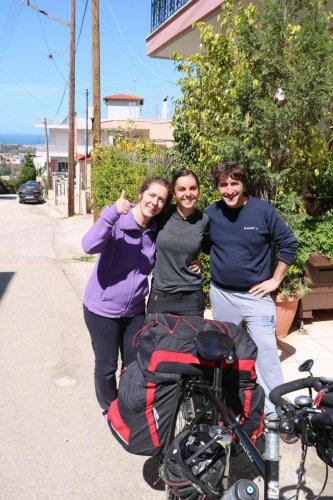 Avec Heleni et François à Patras