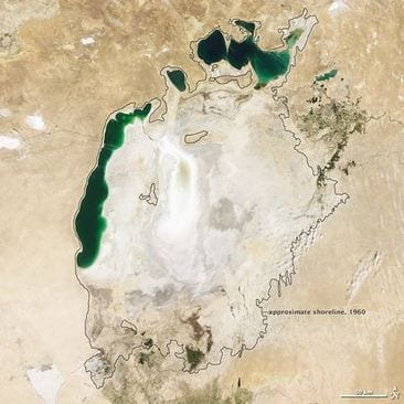 Aral Sea Shrinking