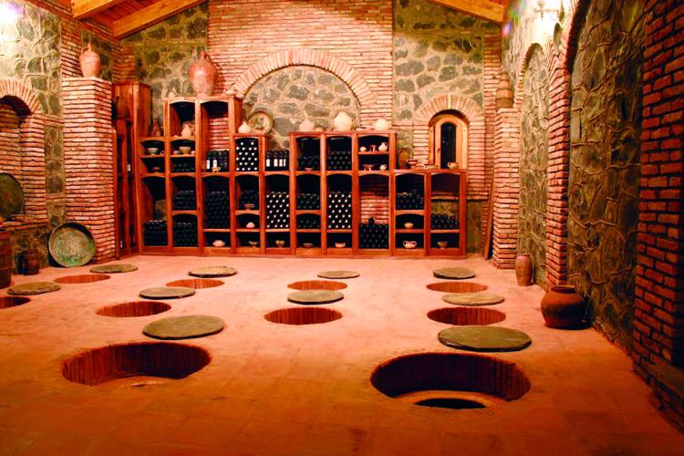 traditional wine cellar georgia