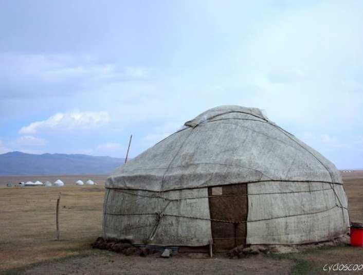 bicycle touring kyrgyzstan song kul