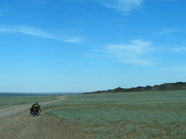 bicycle touring Kazakhstan Almaty Charyn