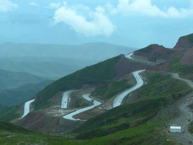 Xining, China, pass, mountain, road