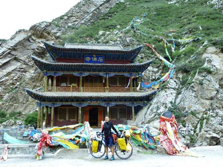 Buddhist temple qinghai, China