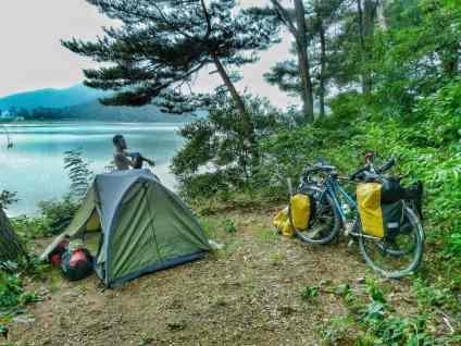 wild camping Korea