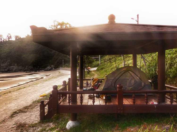free camping korea island