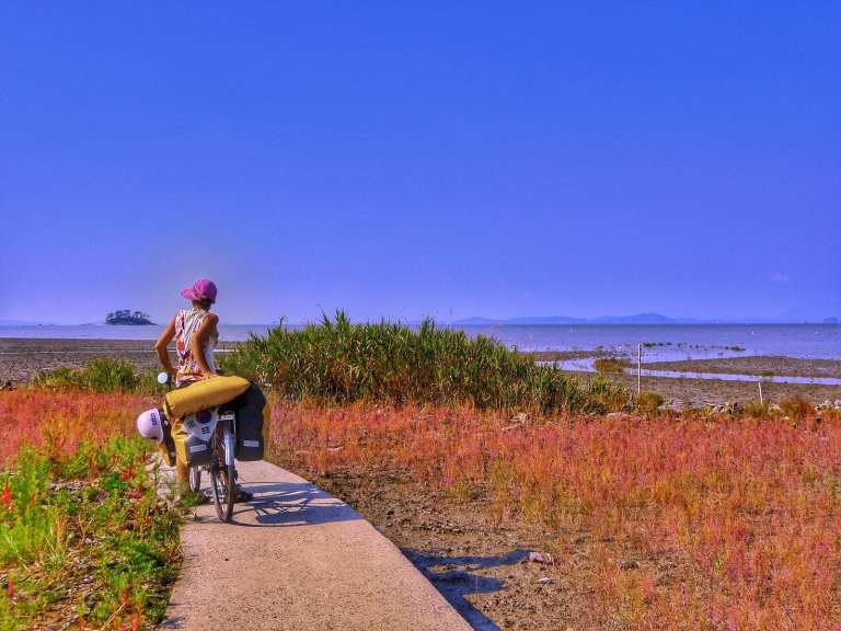 bicycle touring south korea