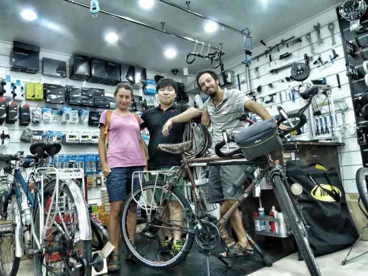 biciclette riparazioni busan Corea