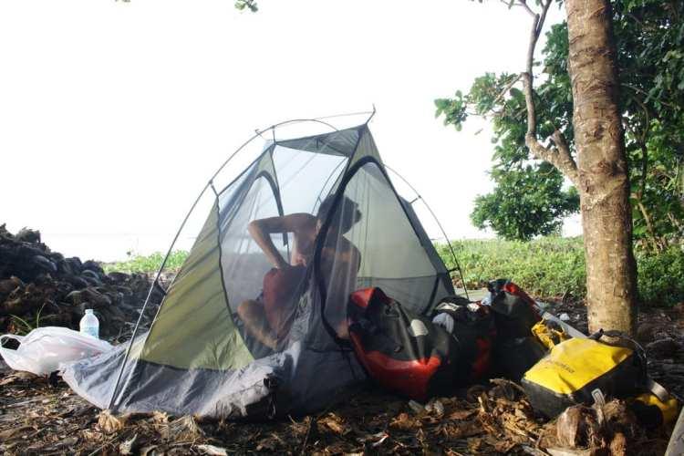 campeggio spiaggia filippine