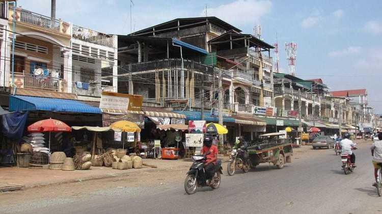 Kampot city center