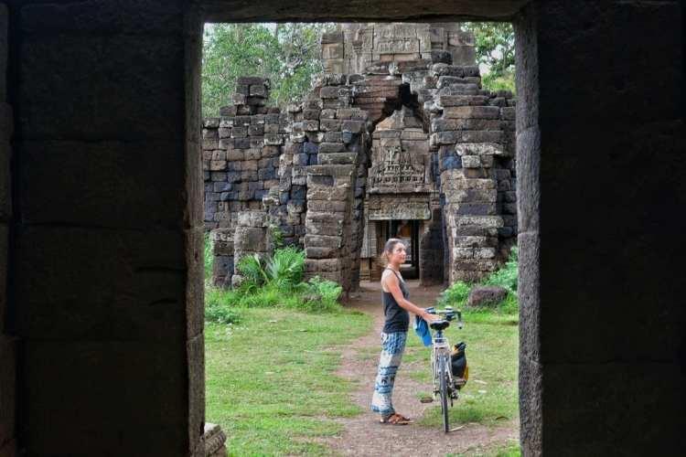 Wat Nokor cycling Cambodia