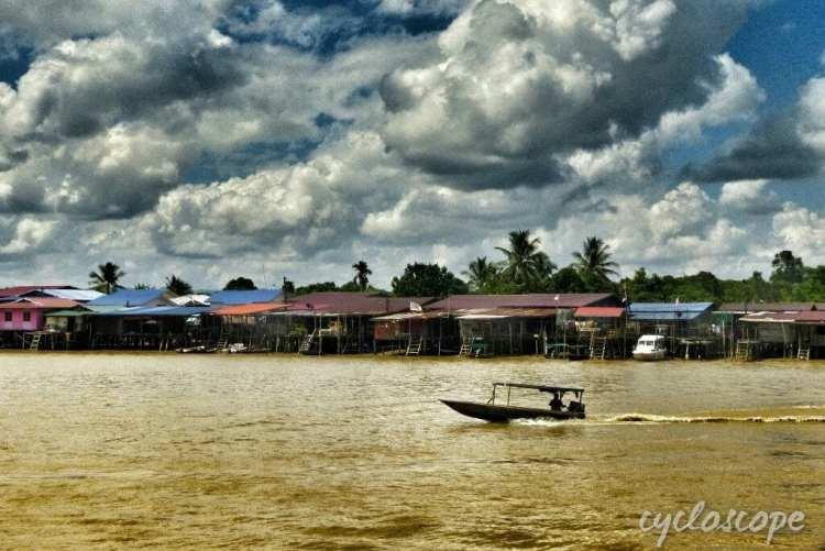 longboat Lawas river, Sarawak, Borneo