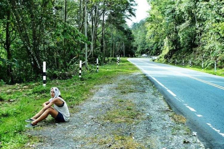 bicycle touring Crocker Mountain Kinabalu