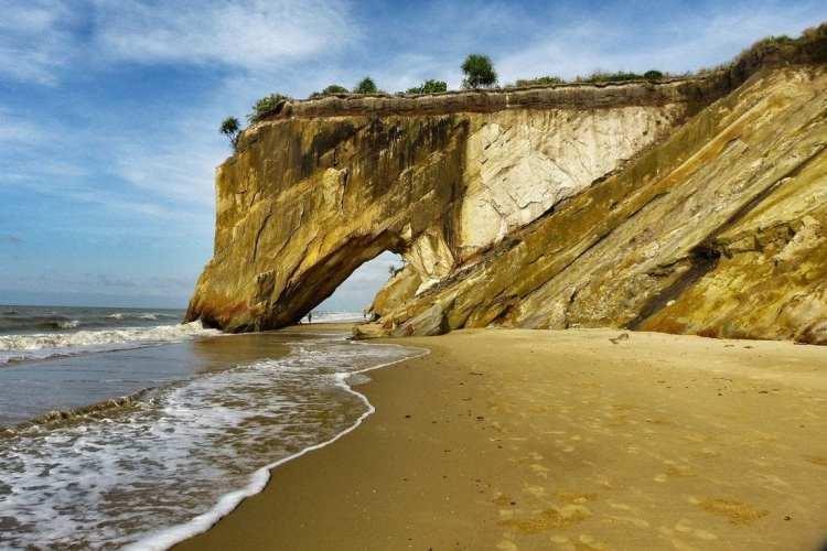 Rock Arch Tusan Beach Borneo Miri Sarawak