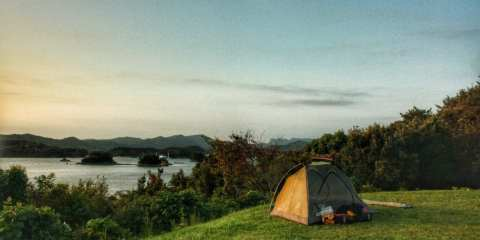 bicycle touring wild camping kyushu japan