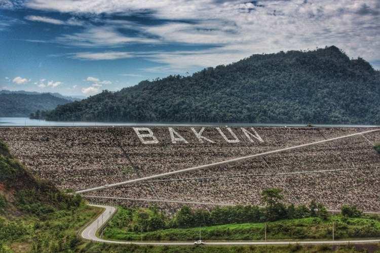 Bakun Dam Sarawak Borneo hydroelectric