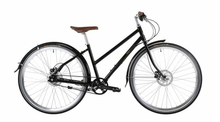 mixte frame lady touring bicycle