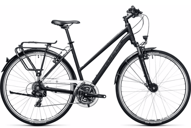 Budget suspension woman bicycle