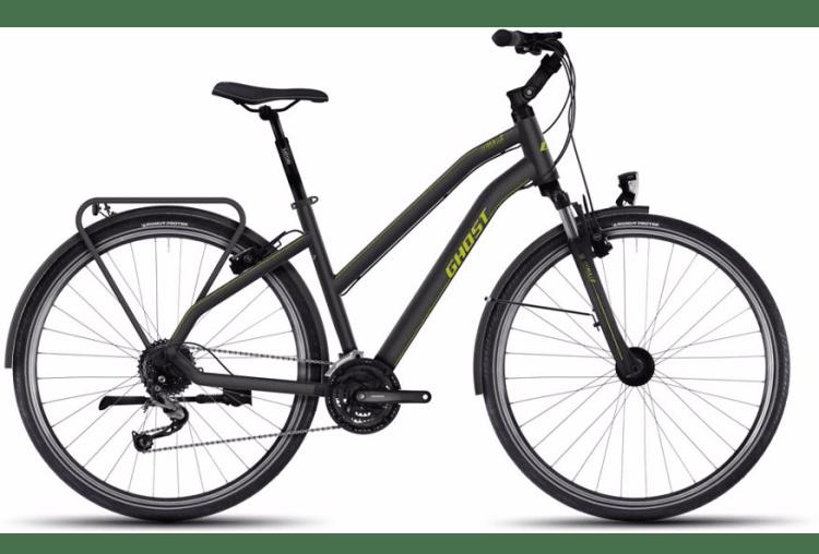 Cheap suspension touring bike girl