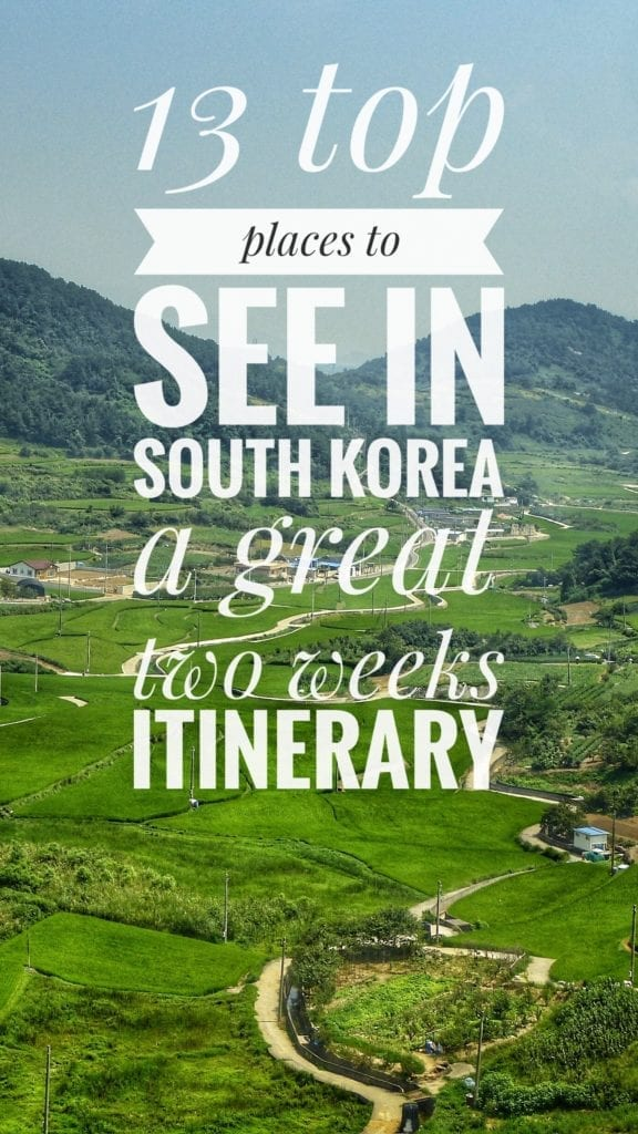 two weeks south korea itinerary