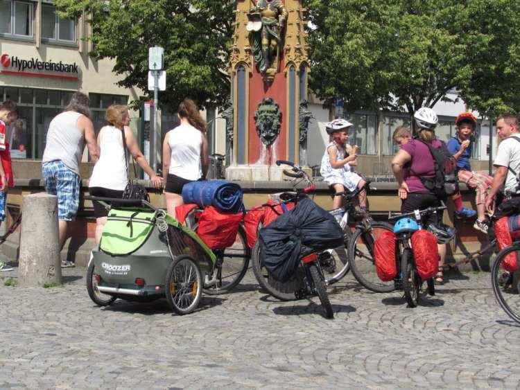 viaggio in bici famiglia