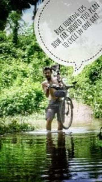 How to plan bike trip km miles average day
