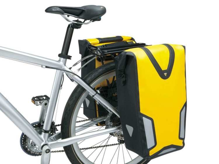 touring bicycle Topeak bags pannier drybag