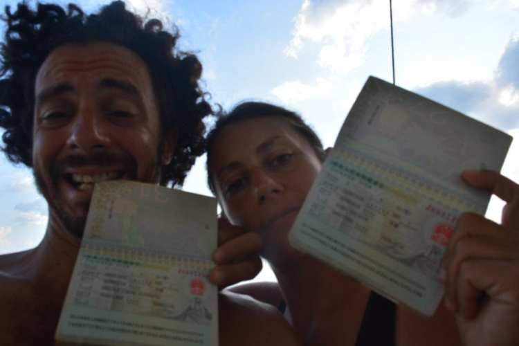 Happy owners of a Chinese Visa