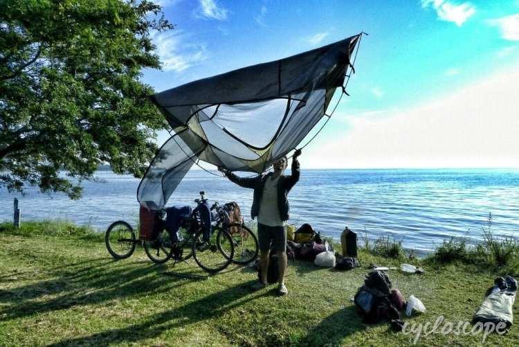 lightweight tent bike touring