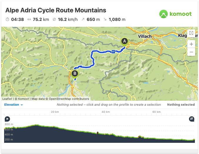 Alpe Adria Map Bike Path GPS GPX