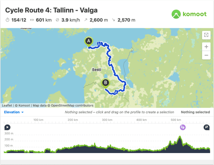 cycling in Estonia Route Map GPX