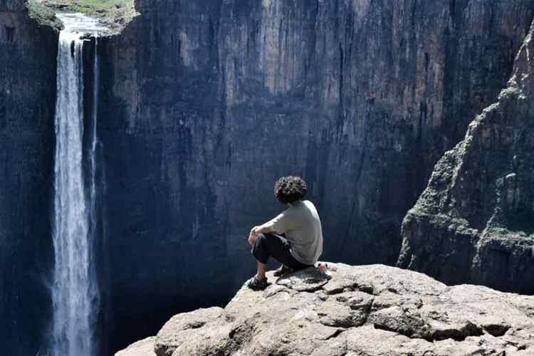 Maltesunyane Falls in Semonkong, Lesotho