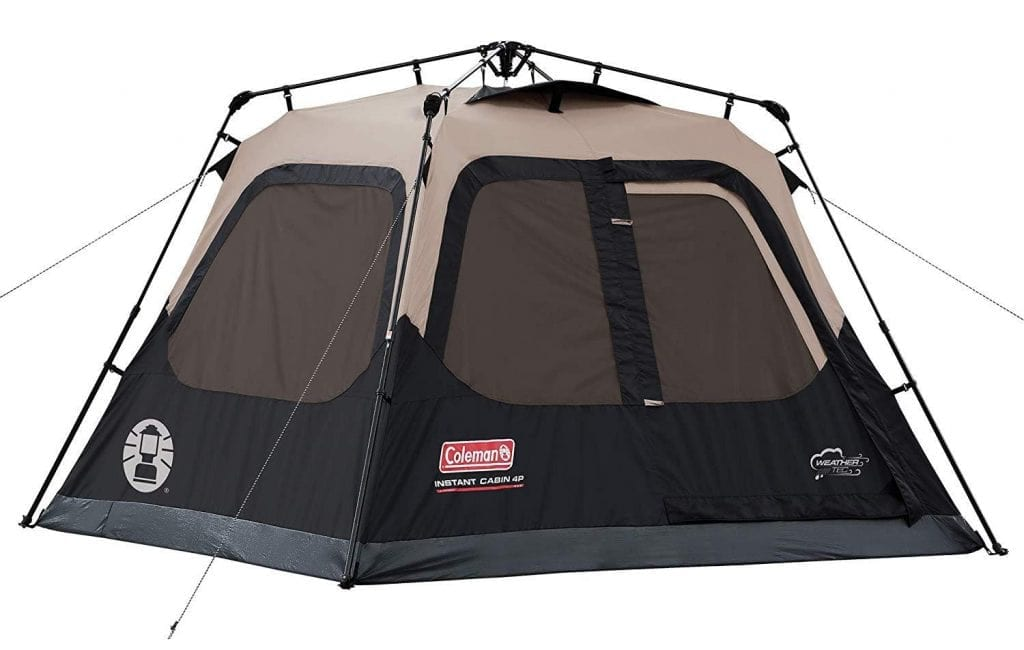 Coleman family pop up tent