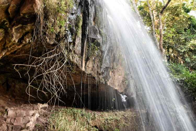 Livingstonia cave waterfall