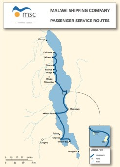 malawi ferry ilala route map