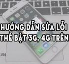 không thể bật 3G