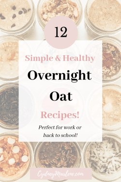 simple and healthy overnight oat recipes