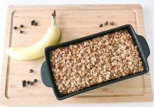 gluten free, dairy free, healthy banana bread recipe