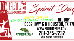 Spirit Night Fajita Pete – Sept 24th – All Day!