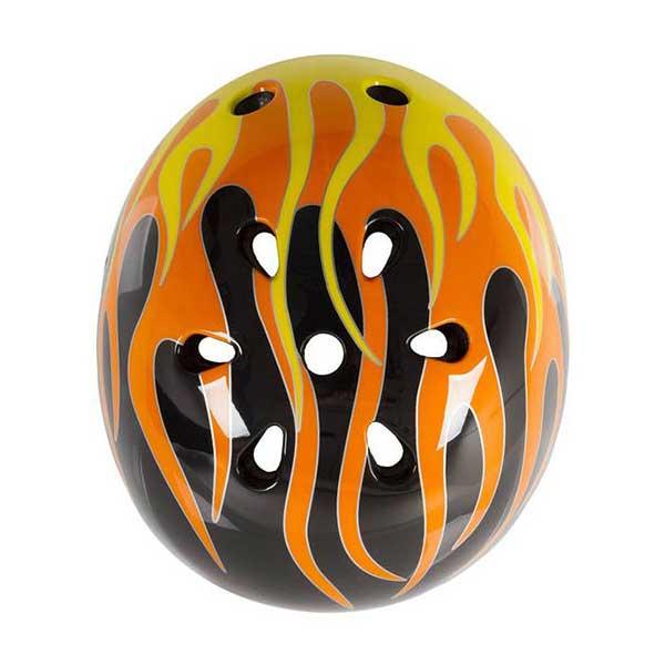 Ventura BMX hjelm Sort med flammer