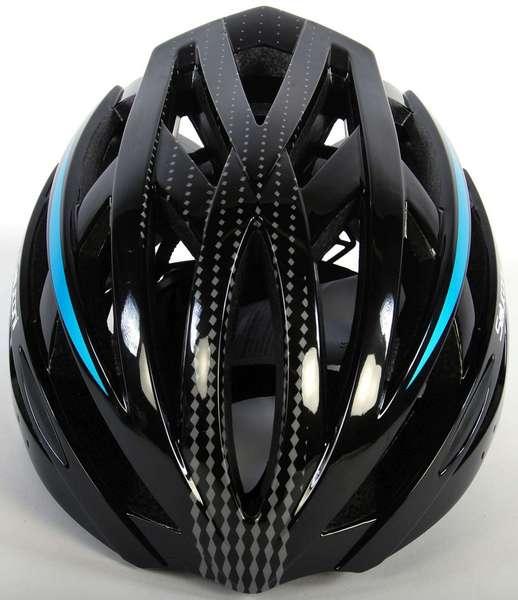 Salutoni herre cykelhjelm i sort og blå - set oppefra