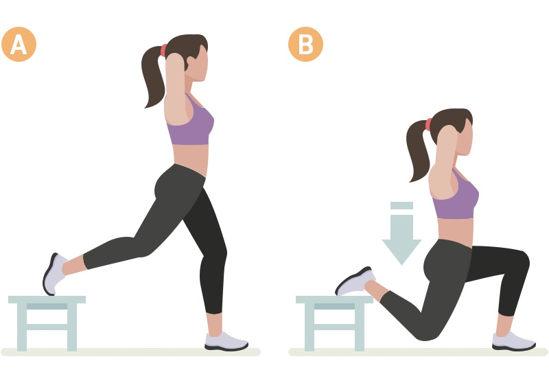Woman doing one-leg squat