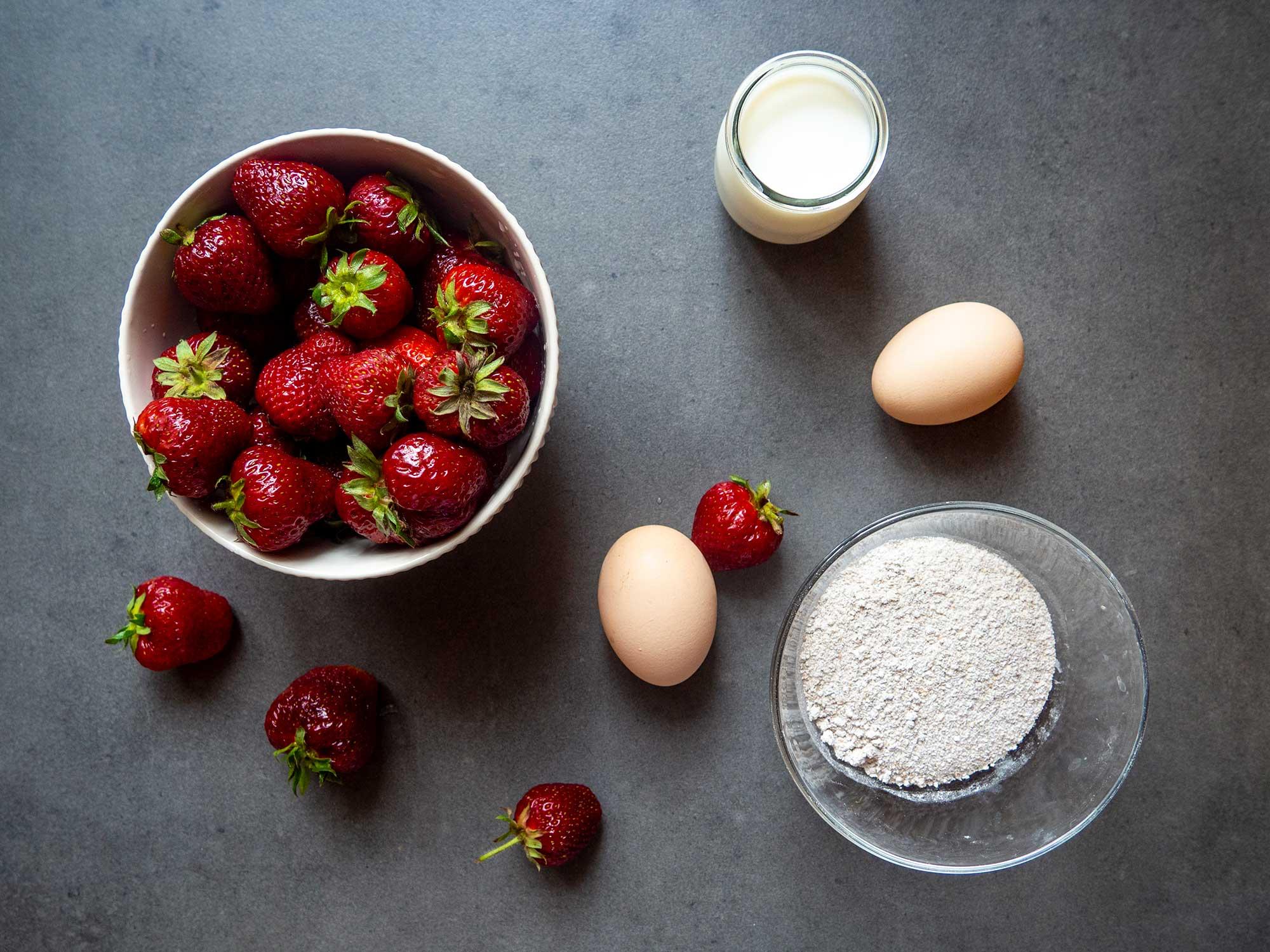 Clean strawberries