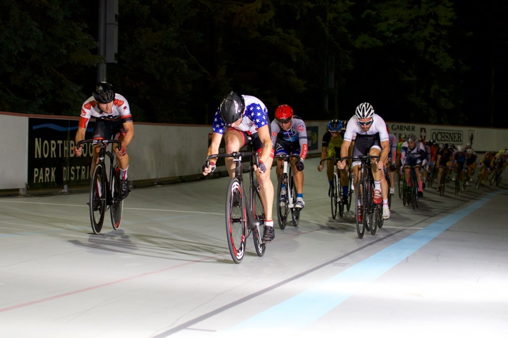 Track cycling at ed rudolph velodrome