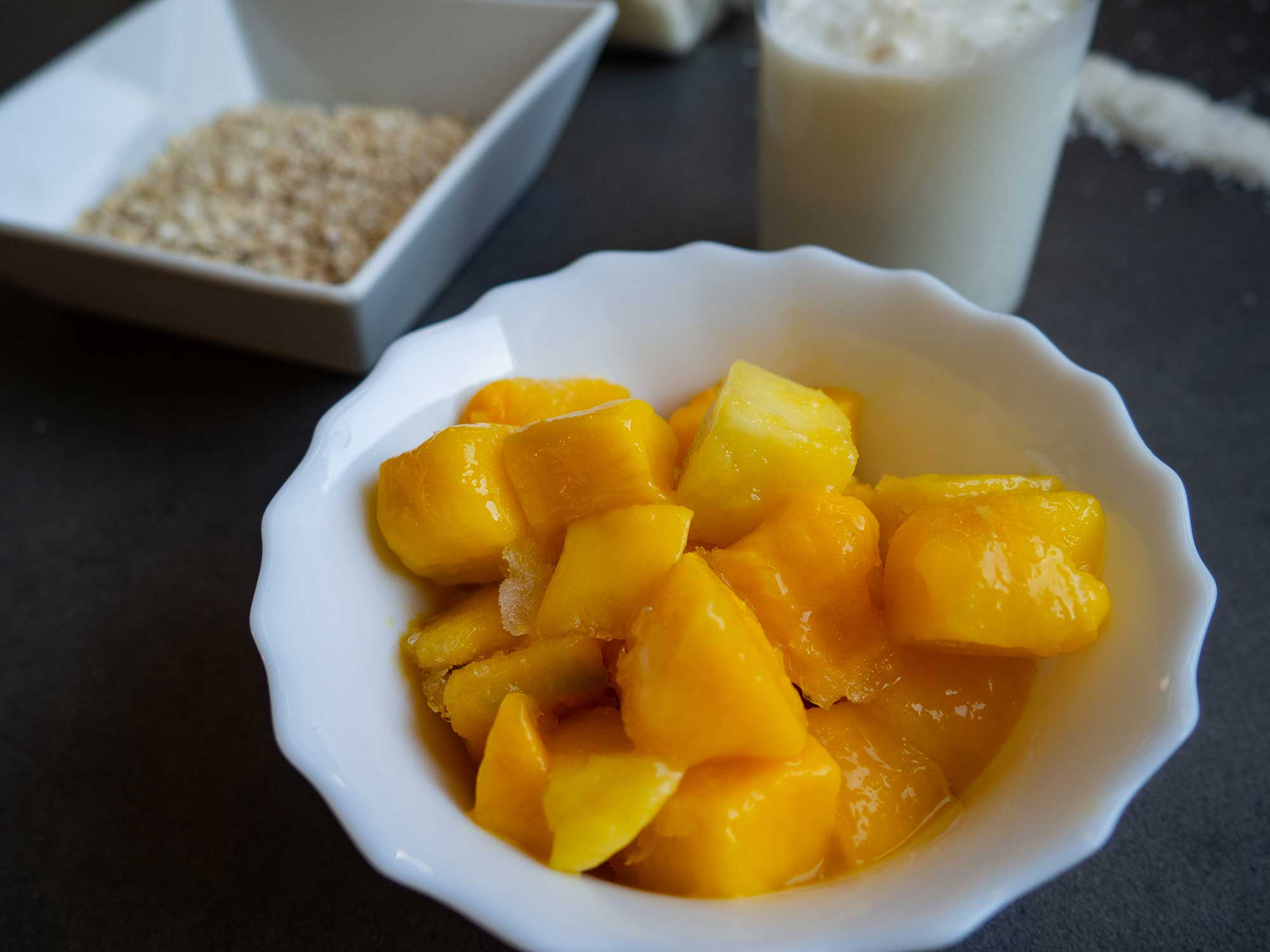 Mango in bowl