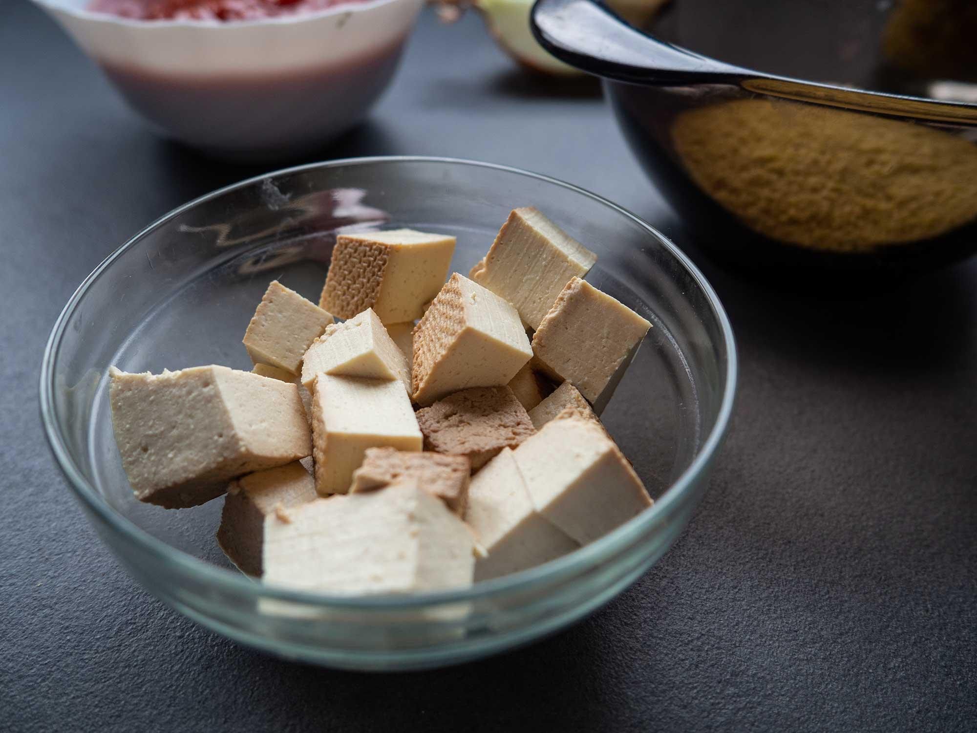 tofu in bowl