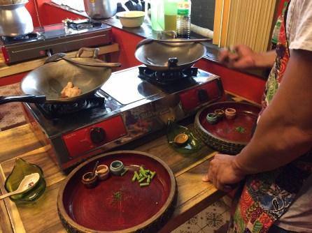 Silom Thai Cooking School - Wok station