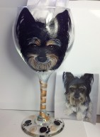 Custom Dog Wine Glasses