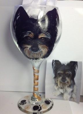 Custom Dog Wine Glasses